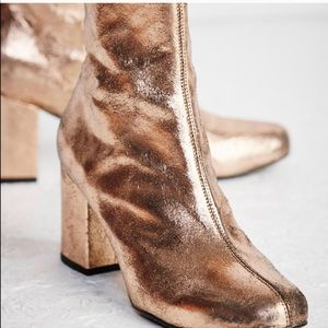 Cecile Rose Gold Ankle Boot